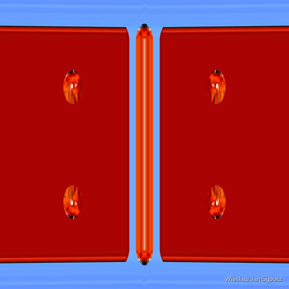 red tablets by Wieslaw Jan Syposz