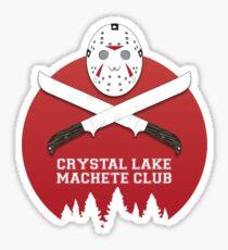 Crystal Lake Machete Club Sticker