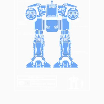 WALL-ED-209 Blueprint by Baardei