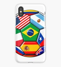 Brazil 2014 - soccer with various flags iPhone Case/Skin