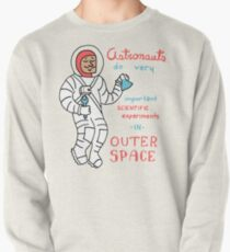 Scientific Astronauts - funny cartoon drawing with handwritten text Pullover