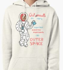 Scientific Astronauts - funny cartoon drawing with handwritten text Pullover Hoodie