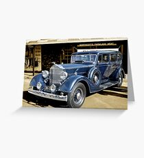 1934 Packard 1102 seven-passenger Sedan Greeting Card