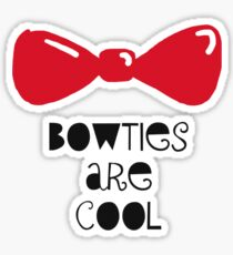 Bowties Are Cool-Black Lettering Sticker