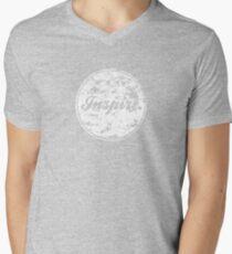 INSPIRE. Mens V-Neck T-Shirt