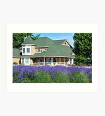 Purple Ridge Lavendar Farm Art Print
