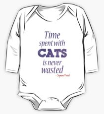 Time spent with cats... Long Sleeve Baby One-Piece