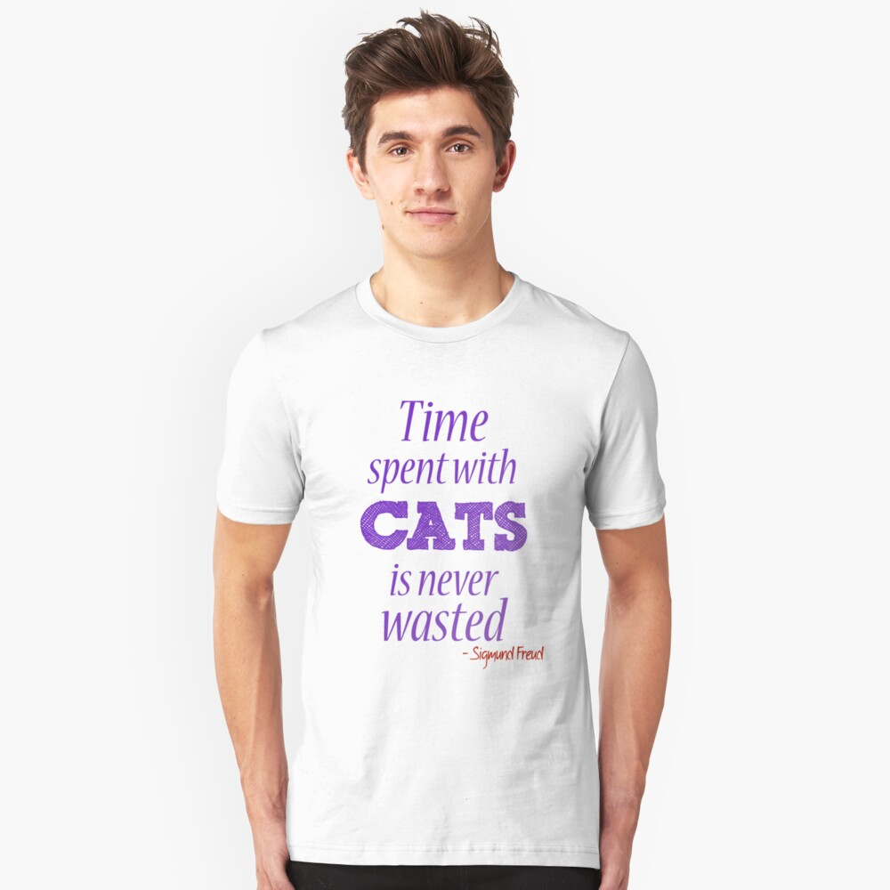 Time spent with cats... Slim Fit T-Shirt