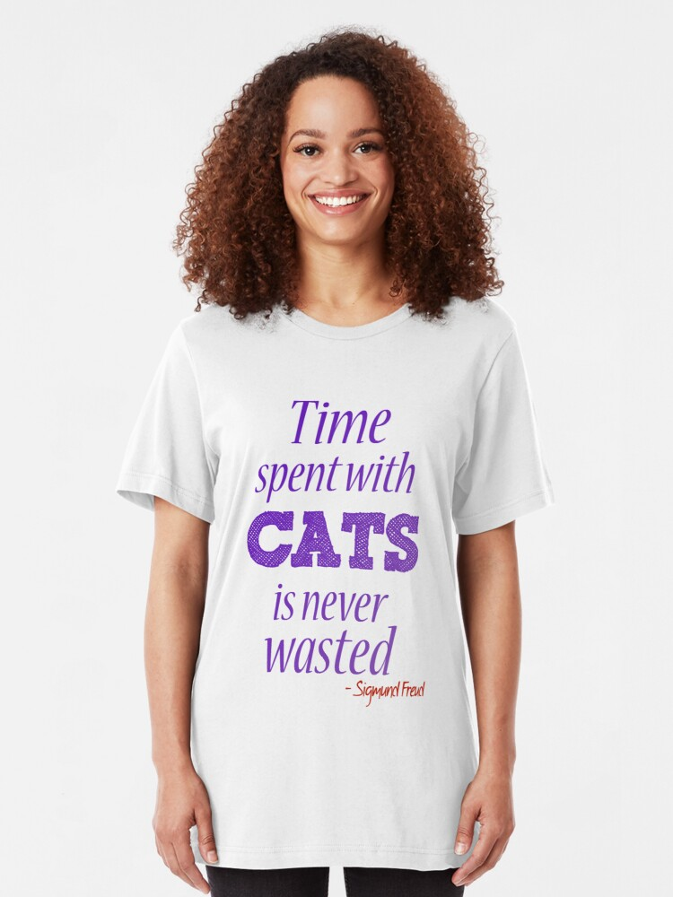 Alternate view of Time spent with cats... Slim Fit T-Shirt
