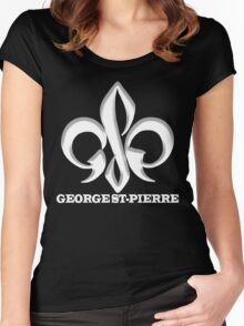 Georges St-Pierre Mixed Martial Arts GSP MMA UFC Champions Women's Fitted Scoop T-Shirt