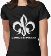 Georges St-Pierre Mixed Martial Arts GSP MMA UFC Champions Womens Fitted T-Shirt