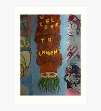 Welcome To Camden, Wall Art In Camden Market, London Art Print