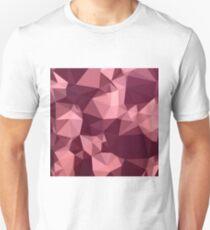 Britischer purpurroter abstrakter niedriger Polygon-Hintergrund Slim Fit T-Shirt