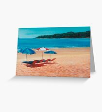 3 Parasols Greeting Card