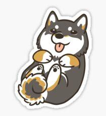 Black Shiba Inu Sticker