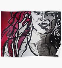 Red & Black Detail Poster