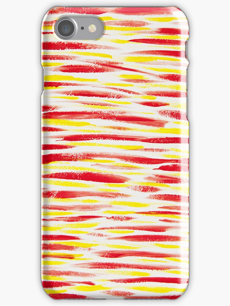 Red and yellow stripes by Lisa Kyle Young