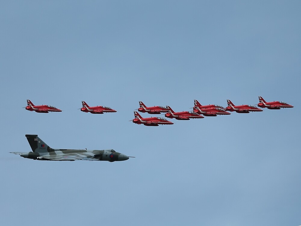 AVRO Vulcan joins The Red Arrows by Mark Kerton