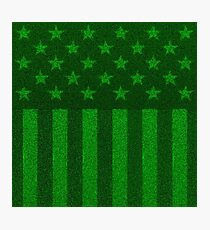The grass and stripes Photographic Print
