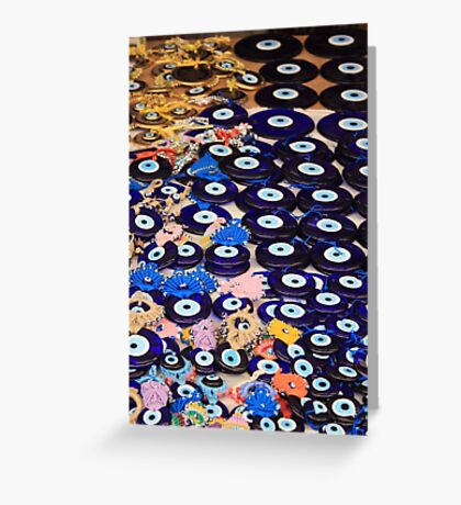 Protection From The Evil Eye - Boncuk Amulet Greeting Card