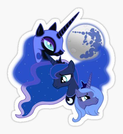 Three Luna Moon Sticker