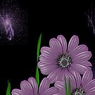 Purple Daisys by ArtChances