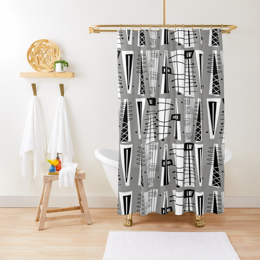 Mid-Century Atomic Era  Shower Curtain