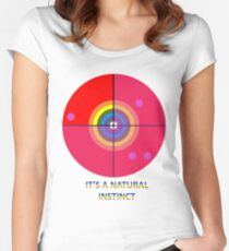 Gaydar - A Natural Instinct Women's Fitted Scoop T-Shirt