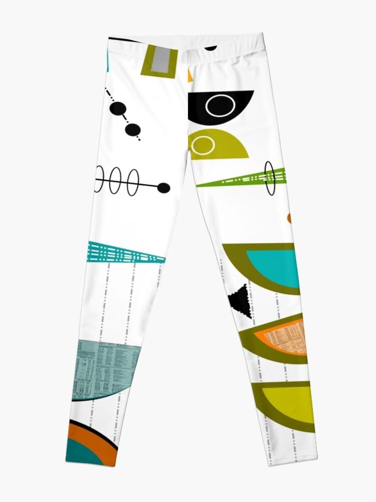 Alternate view of Mid-century Modern Abstract #55 Leggings