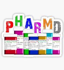 Pharmacist PharmD Prescription Bottles Sticker