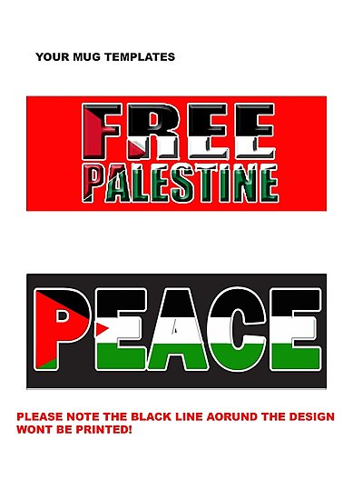 palestine mug template photographic prints by ogclothingco redbubble