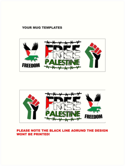 palestine mug template art prints by ogclothingco redbubble