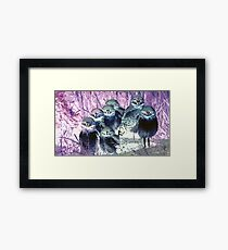 Wild nature - owls Framed Print