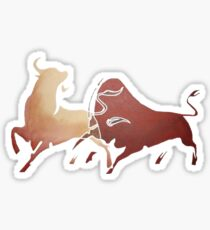 Two Fighting Bulls Sticker
