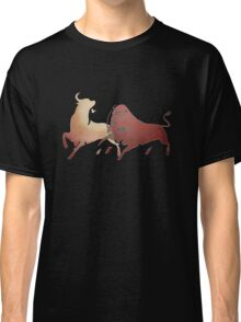 Bull Fight In Brown Classic T-Shirt