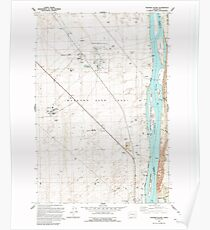 USGS Topo Map Washington State WA Wooden Island 244782 1992 24000 Poster