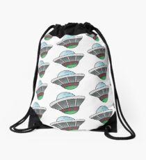 Unidentified flying object Drawstring Bag