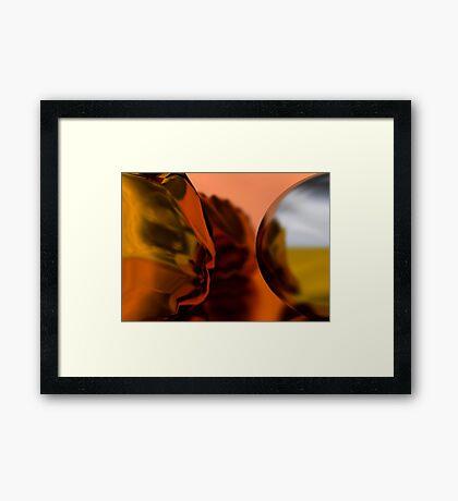 Silver // Gold Framed Print