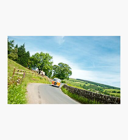 Hippy In a Camper Van Photographic Print