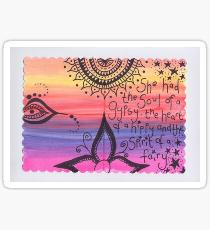 heart of a hippy Sticker