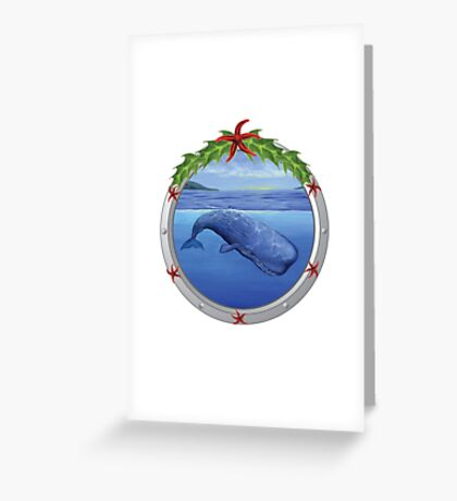 Holiday Sperm Whale Greeting Card