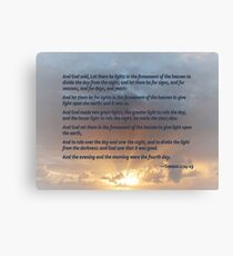 Genesis 1:14-19 Canvas Print