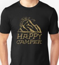 Happy Camper - Gold T-Shirt