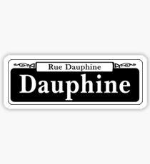 Dauphine St., New Orleans Street Sign, USA Sticker