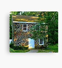 Sunsplashed Stone Cottage Canvas Print