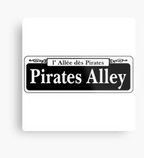 Pirates Alley, New Orleans Street Sign, USA Metal Print