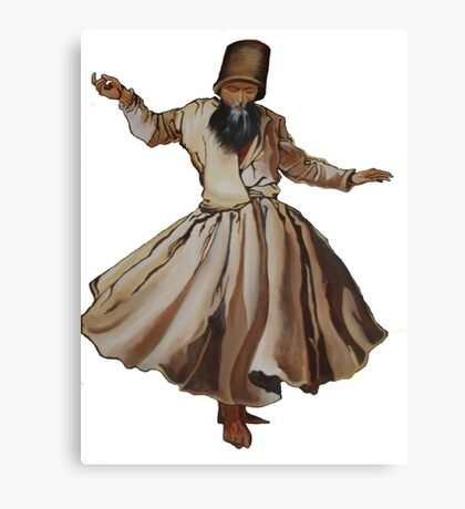 Whirling Dervish Conveys God's Spiritual Gift  Canvas Print