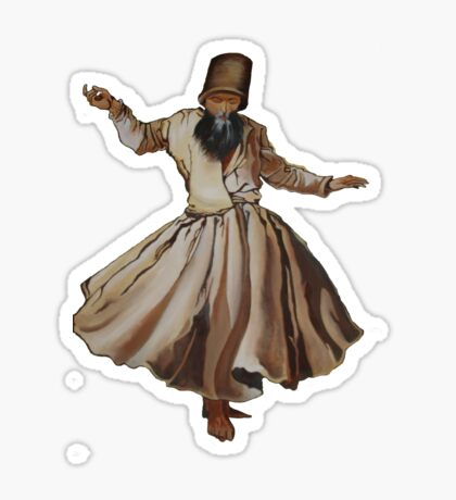 Whirling Dervish Conveys God's Spiritual Gift  Sticker
