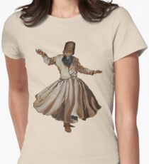 Whirling Dervish Conveys God's Spiritual Gift  Womens Fitted T-Shirt
