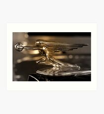 1937 Packard Hood Ornament   Art Print